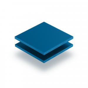 Verkehrsblau Acrylglas Buchstabenplatte matt